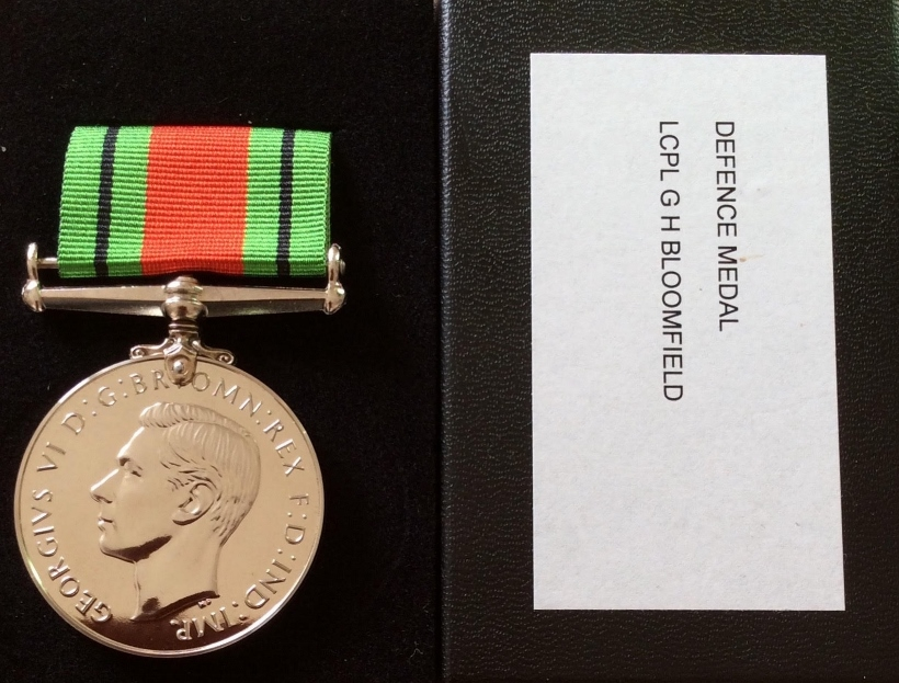 George Bloomfield Defence Medal 2020