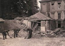 Clockhouse damage caused by an Auxiliary-related explosion