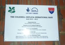 Coleshill Replica OB plaque